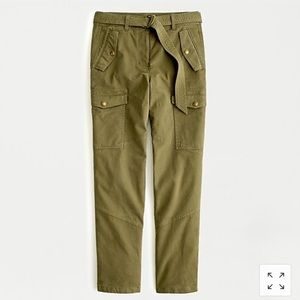 J.Crew Belted Military Pocketed Pant Khaki